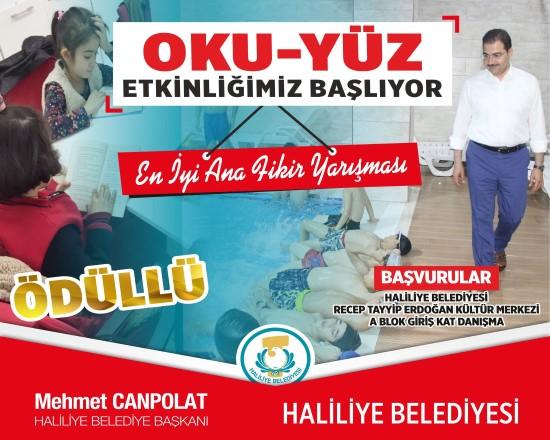 Haliliye Belediyesi'nden ödüllü kitap okuma yarışması