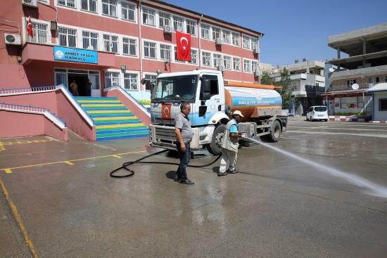 Haliliye'de okullarda temizlik seferberliği