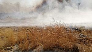 Şanlıurfa'da boşaltılan mülteci kampında yangın