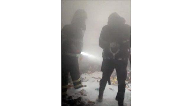 Şanlıurfa'da depoda korkutan yangın