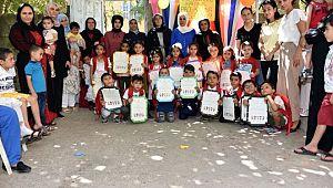 Siverek'te yaz anaokulu uygulaması sona erdi