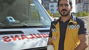 Ambulans şoföründen örnek davranış