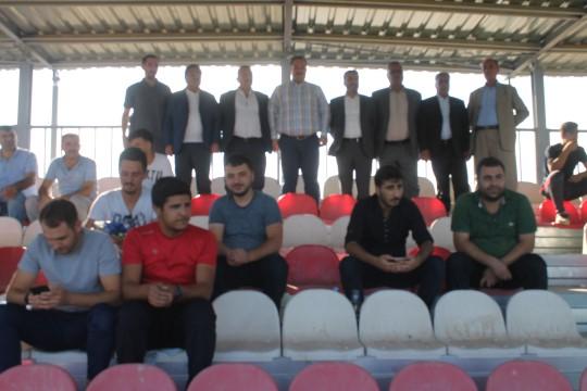 Başkan Ekinci maçı taraftarlarla birlikte izledi