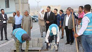 Eyyübiye Belediyesi dur durak demeden çalışmaya devam ediyor
