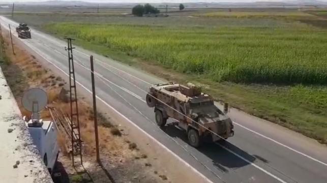Kobani sınırında askeri hareketlilik