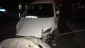 Otomobil at arabasına çarptı: 2 ağır yaralı