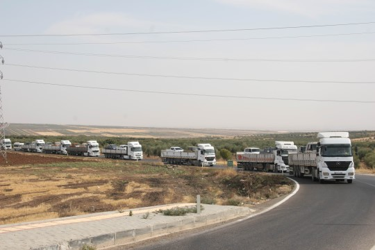 Suriye Milli Ordusu askerlerinin Şanlıurfa'ya sevkıyatı sürüyor
