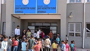 Terör şehidi Necmettin Yılmaz'ın öğrencilerine ziyaret