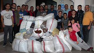 Ülkü Ocakları öncülük etti 10 bin paket üzüm toplandı