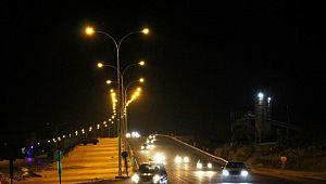 Çevik Kuvvet Köprülü Kavşağı'na 1 milyon liralık aydınlatma yatırımı