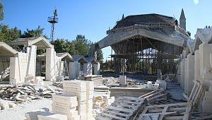 Eyyüp Nebi'de Cami ve Külliye inşaatı sürüyor
