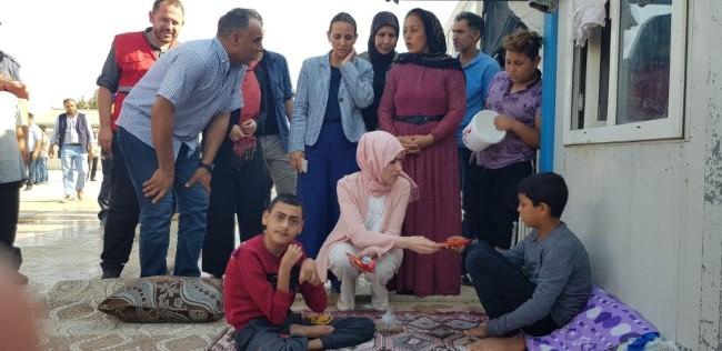 Gülhan Erin Akçakale ve Harran'da Aileleri Ziyaret Etti