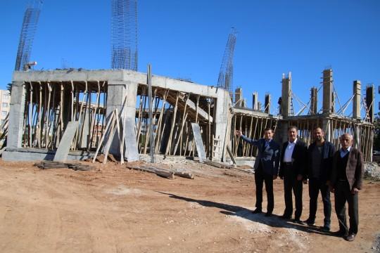 Hilvan'da İlçe Kütüphanesi inşaatı hızla sürüyor
