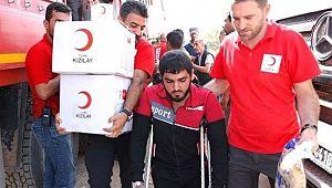 Tel Abyad'a insani yardım devam ediyor