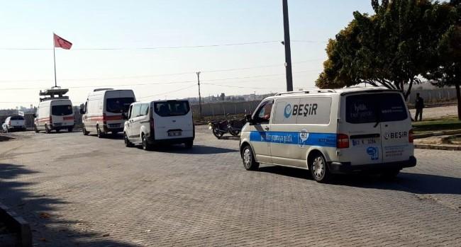 Tel Abyad'daki patlamanın ardından bölgeye yardım konvoyu gönderildi