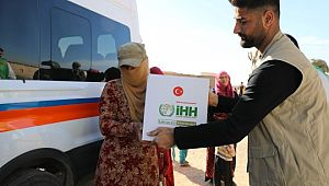 Tel Abyad ve Rasulayn'da 2 bin aileye yardım eli