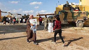 Terörden arındırılan bölgelerde yardım dağıtıldı