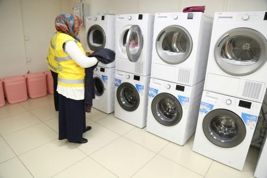Haliliye'den kentte bir ilk: ücretsiz çamaşırhane