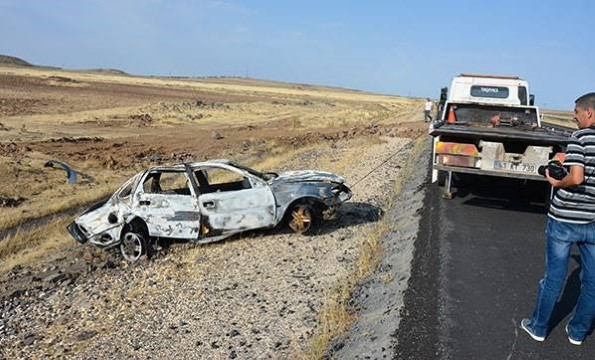 Otomobil devrildi: 7 yaralı