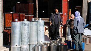 Şanlıurfa'da hava soğuyunca sobaya talep arttı