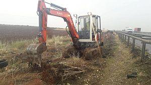 Şanlıurfa'da yol boyu-kanal boyu ağaçlandırma çalışması devam ediyor