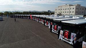 Şanlıurfa toplu taşıma filosuna 27 otobüs daha kazandırıldı (Videolu Haber)