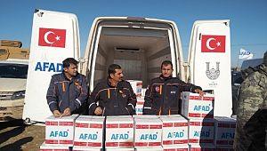 Barış pınarı harekat bölgesine insani yardımlar devam ediyor