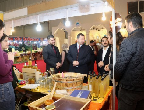 Baydilli'den yöresel ürünler fuarına ziyaret (Videolu Haber)