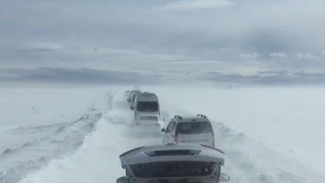 Karacadağ'a giden kayakçılar mahsur kaldı