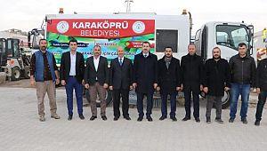 Karaköprü belediyesi'ne yeni temizlik aracı (Videolu Haber)