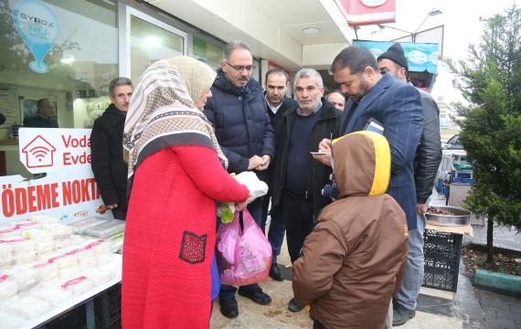 Kuş'tan Haleplibahçe mahallesine semt pazarı müjdesi (Videolu Haber)