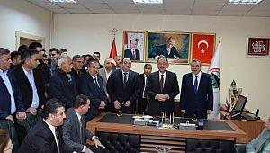 Özhasaki Viranşehir belediyesine 20 yıl sonra ziyaret etti
