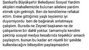 Şanlıurfa Büyükşehir Belediyesi basın açıklaması