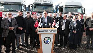 Şanlıurfa'dan Suriye mazlum halkına 3 tır dolusu yardım daha yola çıktı (Vİdeolu Haber)