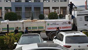 Şanlıurfalı iş adamlarından depremzedelere insani yardım