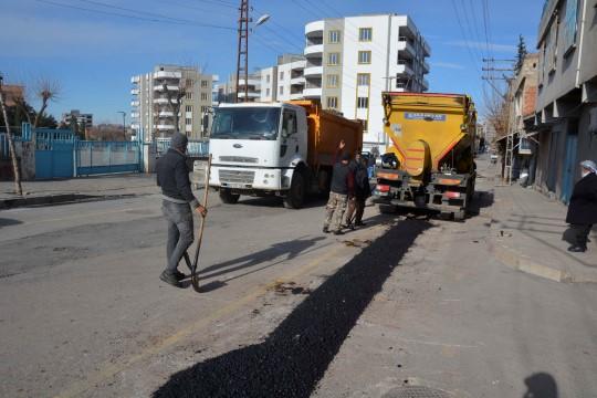 Siverek'te cadde ve sokaklarda onarım çalışmaları başladı