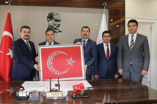 Yerel yönetimler başkan yardımcısı Zenbilci'den Baydilli'ye ziyaret (Videolu Haber)