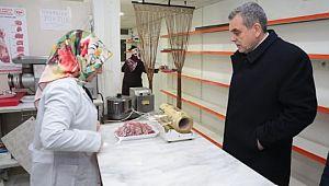 Beyazgül, kendi işyerini açan kadın kasabı ziyaret etti (Videolu Haber)