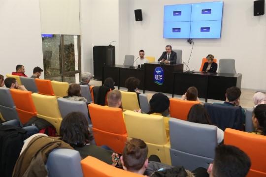Erasmus öğrencilerinden Başkan Deniz Köken'e ziyaret