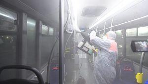 Toplu taşıma araçlarında hijyenik ortam sağlanıyor