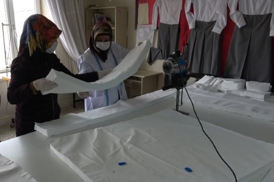 Bozova Belediyesi maske üretimine başladı!