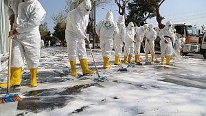 Haliliye'de dezenfekte çalışmaları tam hız devam ediyor (Videolu Haber)