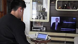 Şanlıurfa'da öğrenciler evde ders başı yaptı
