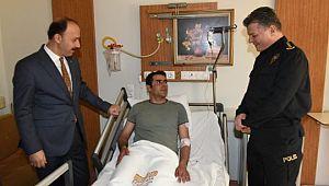 Vali Erin saldırıda yaralanan bekçileri ziyaret etti