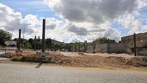 Eyyübiye belediyesi, kapalı semt pazarı yapımını sürdürüyor (Video)