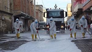 Eyyübiye belediyesi temizlik çalışmalarını aralıksız sürdürüyor. (Videolu Haber)