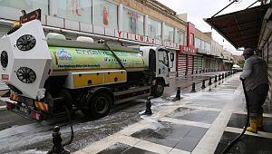 Eyyübiye'de temizlik çalışmaları sürüyor