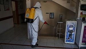 Haliliye'deki aile sağlığı merkezleri dezenfekte ediliyor (Videolu Haber)