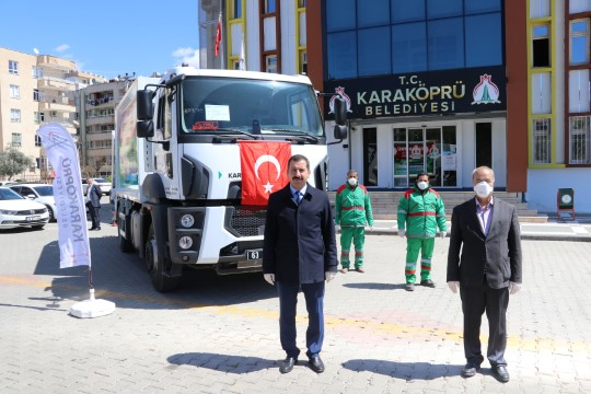 Karaköprü belediyesi araç filosunu güçlendiriyor (Videolu Haber)