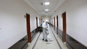 Şanlıurfa Adliyesi ve ek hizmet binaları ile ceza infaz kurumlarında 'Koronavirüs'e karşı sıkı tedbirler alındı.(Videolu Haber)